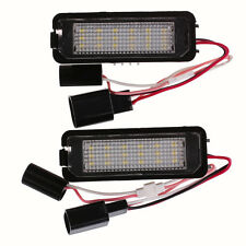 2 VW GOLF MK4 MK5 Mk6 Scirocco CC Polo LED LICENSE PLATE LIGHT LAMP NO ERROR