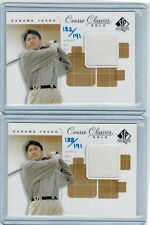 (2) 2002 SP AUTHENTIC GOLF KANAME YOKOO GOLD SHIRT RELIC LOT #/191 JAPANESE