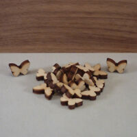 Wooden butterfly Shapes craft Blank, card making wedding plaques X25 (1.5cm)