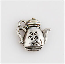 45 Tea Pot Tibetan Silver Charms Pendants Jewelry Making Findings 0E4C8F