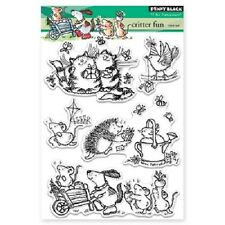 PENNY BLACK RUBBER STAMPS CLEAR CRITTER FUN NEW STAMP SET 2016