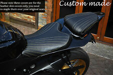 LINE DESIGN GOLD STITCH CUSTOM FITS YAMAHA 600 R6 08-15 FRONT REAR SEAT COVERS