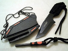Boot Belt Neck Survival Knife & Fire Starter Concealable Self Defense Survivor