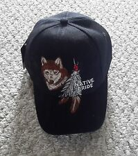 NWT Baseball Cap w/ Wolf Head & Feathers-Native Pride by NY Top-One Size-100%Cot
