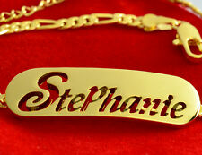 Name Bracelet STEPHANIE 18ct Gold Plated Mother's Day Custom Made Birthday Gift