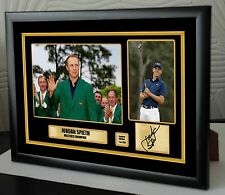 "Jordan Spieth The Masters Golf Framed Canvas Tribute Print Signed ""Great Gift"""