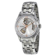 Hamilton Jazzmaster Automatic Silver Open Heart Dial Stainless Steel Mens Watch