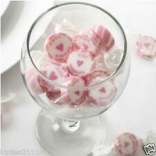 wedding Just Married pink candy buffet rock wrapped sweets x 25