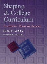 Shaping the College Curriculum: Academic Plans in Action-ExLibrary