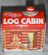 LOG CABIN SYRUP 100TH ANNIVERSARY TIN GREAT CONDITION