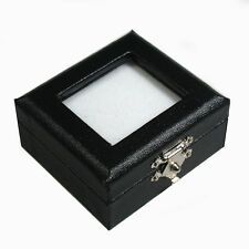 FREE SHIP TOP GLASS GEMSTONES DIAMOND DISPLAY BOX WHITE BLACK 2x2.25 Inch No.#5