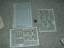 "Microscale  Decals 1/72 72-0213 AF Navy Modern 60 deg angle 24"" 36"" let num C97"
