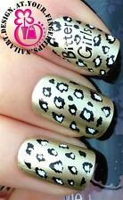 NAIL ART WATER TRANSFERS STICKERS DECALS LEOPARD ANIMAL PRINT BITTER GIRLS #418