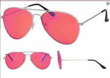 Adults Aviator Sunglasses Mens Womens Red Pilot Glasses UV400