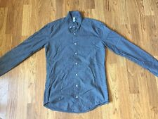 American Apparel Unisex Button Down Dress Shirt Gray Long Sleeve Size XS