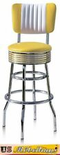 BS29-CB Yellow Amerikanische Bel Air Barhocker Diner Theke Bar Stuhl Style USA
