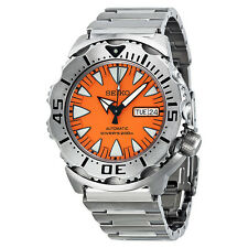 Seiko 5 Sports Diver Automatic Orange Dial Stainless Steel Mens Watch SRP309