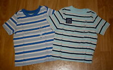 BOYS OLD NAVY LOT OF TWO SHORT SLEEVE STRIPED SHIRTS SIZE 2T BOTH NEW WITH TAGS