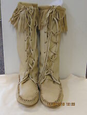 leather deerskin boot moccasins mountain  womans 7 handmade