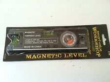 "8"" BLACK Magnetic Torpedo Level With Angle Finder and 2 Vials BRAND NEW"