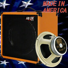 1x12 Guitar Speaker Extension Cabinet W/8 Ohm CELESTION Vintage 30 Orange Tolex