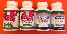 2x Wild Raspberry Ketone Xtreme 60 Caps & 2x Daily Power Cleanse Xtreme 60 Caps