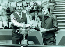 Alex 'Hurricane' Higgins and Ray Reardon autograph print with COA