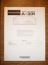Bedienungsanleitung/Instructions für Pioneer A.331,ORIGINAL
