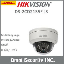 Hikvision-DS-2CD2135F-IS HD 3MP IP Camera POE Dome IP67 H.265 SD Audio IR CCTV