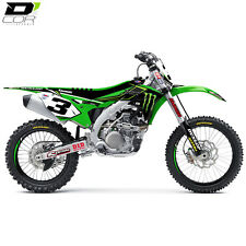 D Cor 2016 Team Monster Energy Graphics Kit For Kawasaki KXF450 2009 2010 2011