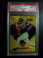 1996 Bowman's Best Cal Ripken Jr. Atomic Refractor. BBP28. PSA 10 GEM Mint
