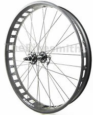 "Alex Blizzerk 80 26"" Fat Bike 135mm Black FRONT Wheel w/ Sealed Novatec Hub"