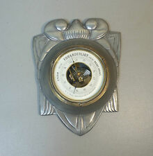 RARE CAST PEWTER ARTS & CRAFTS BAROMETER, SIGNED MOGENS BALLIN, c. 1900-1907
