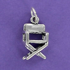 Director's Chair Charm Sterling Silver for Bracelet 3D Movie Set Pario Furniture