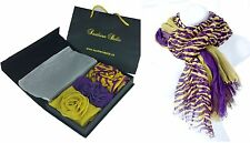 Louisiana State University Scarves Mothers Day Gift Set of 4 - LSU Geaux Tigers!