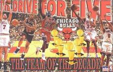 """1997 Chicago Bulls Champs Starline Poster OOP""""The Drive For Five"""" Jordan"""