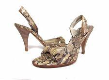 PRADA Snakeskin Slingback Open Toe Sandals Size 35 / 5    $795.00