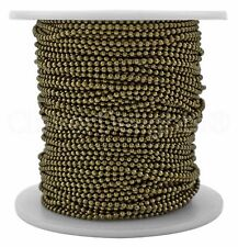 Ball Chain Spool - 30 Feet - Antique Bronze Color - 1.5mm Ball - 10 Yards Bulk
