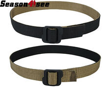 M Size Tactical Military Double-Sided Nylon Army Waist Belt Black & Coyote Brown
