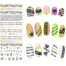 1 Sheet Nail Art Water Decal English Letter Transfer Sticker Decoration DS-128