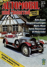 Automobil Motorrad Chronik 1 85 1985 Morris Minor Borgward Rolls Royce Zündapp