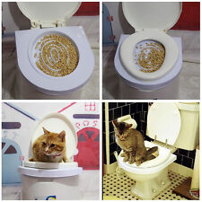 Cat Toilet Training Litter System Kwitter Cat Mat Plastic Easy to Learn New Kit