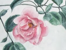 Aquarell Bild Blume Rose Heckenrose Watercolor flower wildrose picture flower