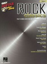 Easy Guitar Play-Along Rock Classics Learn Beginner TAB Music Book 1 &CD