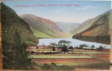 Irish Postcard Fields at UPPER LAKE GLENDALOUGH Wicklow Ireland Fergus O'Connor