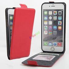Magnetic Vertical Flip PU Leather slot wallet Holder Cover Case Skin