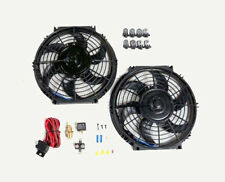 """10"""" Dual Electric Radiator Fan with 185 Degree Temperature Switch Relay Kit NEW"""
