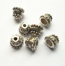 30pcs Tibet silver  horn Flower End Beads Caps 9x7 mm