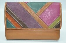 Fossil Pop Patchwork Multi function Multicolored Organizer Clutch Wallet