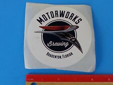 Cool Beer Collectible STICKER ~ MOTORWORKS Brewing Company    Bradenton, FLORIDA